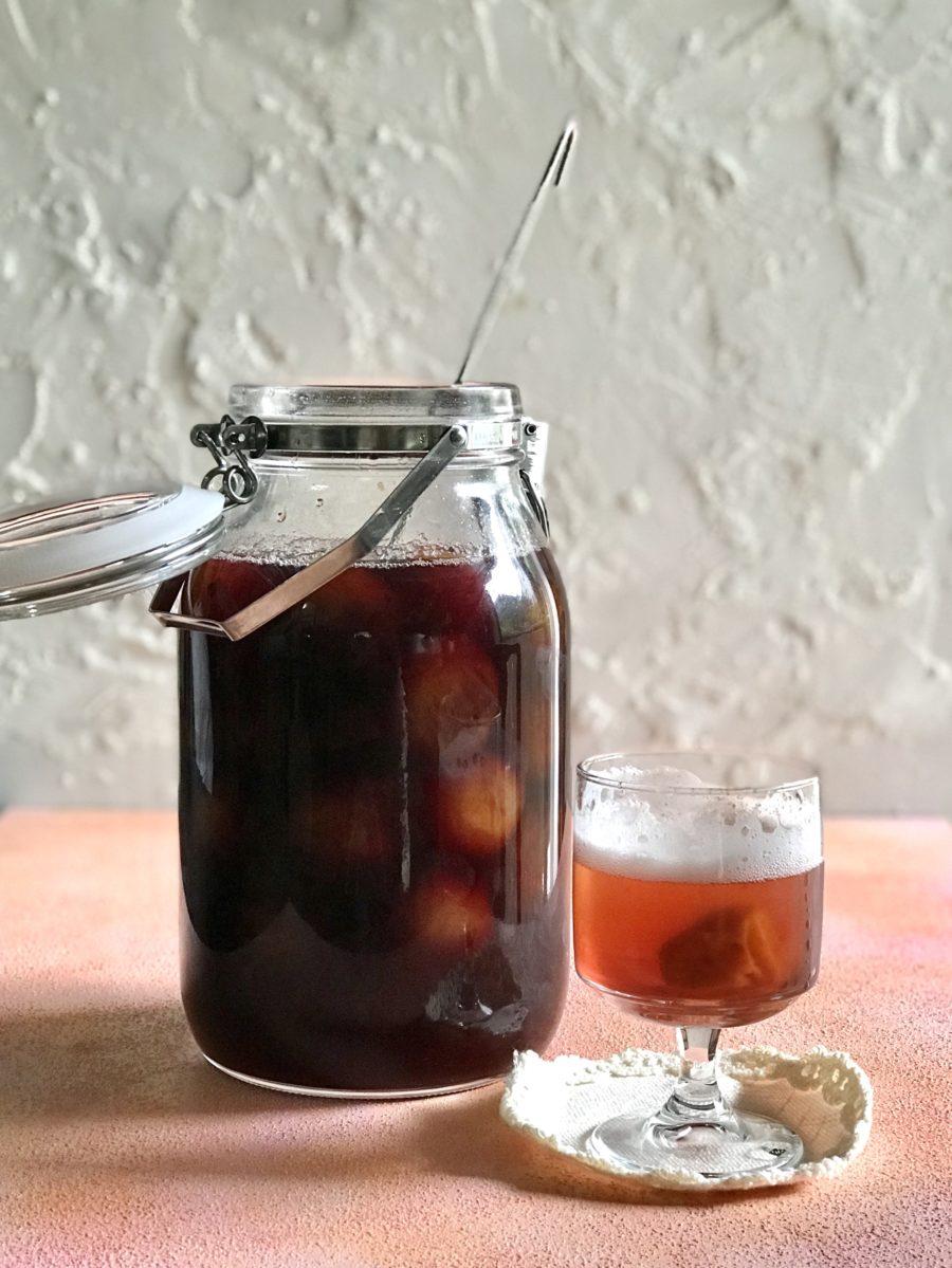 梅の赤ワイン煮に初トライ